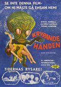 "Movie Posters:Science Fiction, Invasion of the Saucer-Men (American International, 1957). SwedishOne Sheet (27.5"" X 39.5"").. ..."