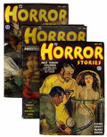 Pulps:Horror, Horror Stories Group (Popular, 1936-40) Condition: Average FN....(Total: 4 Items)