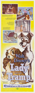 """Movie Posters:Animated, Lady and the Tramp (Buena Vista, 1955). Insert (14"""" X 36"""").. ..."""