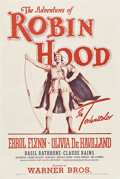 "Movie Posters:Adventure, The Adventures of Robin Hood (Warner Brothers, R-1942). One Sheet (27"" X 41"").. ..."