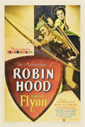 "Movie Posters:Adventure, The Adventures of Robin Hood (Warner Brothers, 1938). One Sheet (27"" X 41"").. ..."