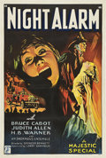 "Movie Posters:Drama, Night Alarm (Majestic, 1934). One Sheet (27"" X 41"").. ..."