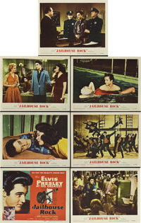 """Jailhouse Rock (MGM, 1957). Title Lobby Card and Lobby Cards (6) (11"""" X 14""""). ... (Total: 7 Items)"""