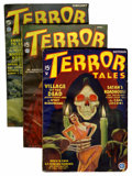Pulps:Horror, Terror Tales Group (Popular, 1934-35) Condition: Average FN.... (Total: 3 Items)