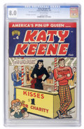 Golden Age (1938-1955):Humor, Katy Keene #4 (Archie, 1951) CGC VF 8.0 Off-white pages....