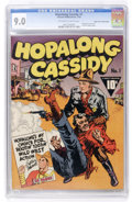 Golden Age (1938-1955):Western, Hopalong Cassidy #1 Mile High pedigree (Fawcett, 1943) CGC VF/NM 9.0 Off-white to white pages....