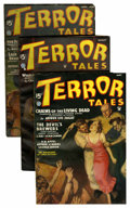 Pulps:Horror, Terror Tales Group (Popular, 1935-37) Condition: Average VG/FN....(Total: 4 Items)