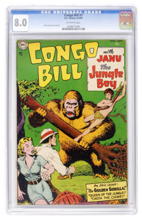 Congo Bill #1 (DC, 1954) CGC VF 8.0 Off-white pages