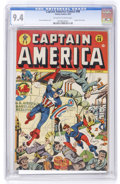 Golden Age (1938-1955):Superhero, Captain America Comics #49 (Timely, 1945) CGC NM 9.4 Off-white to white pages....