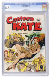 Canteen Kate #1 (St. John, 1952) CGC VF+ 8.5 Off-white pages