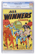 Golden Age (1938-1955):Superhero, All Winners Comics #1 Chicago pedigree (Timely, 1941) CGC NM+ 9.6Off-white to white pages....