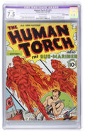 Golden Age (1938-1955):Superhero, The Human Torch #2 (#1) (Timely, 1940) CGC Apparent VF- 7.5 Extensive (P) Off-white pages....