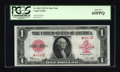 Large Size:Legal Tender Notes, Fr. 40 $1 1923 Legal Tender Star Note PCGS Gem New 65PPQ....
