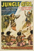 "Movie Posters:Serial, Jungle Girl (Republic, 1941). One Sheet (27"" X 41"") Chapter One -- ""Death by Voodoo."". ..."
