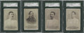 "Boxing Cards:General, 1887 N269 Lorillard's ""Boxers"" SGC-Graded Group Lot of 4...."