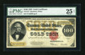 Large Size:Gold Certificates, Fr. 1215 $100 1922 Gold Certificate PMG Net Very Fine 25....