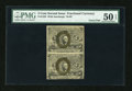 Fractional Currency:Second Issue, Fr. 1233 5c Second Issue Vertical Pair PMG About Uncirculated 50 EPQ....