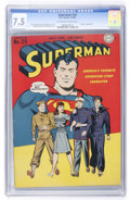 Golden Age (1938-1955):Superhero, Superman #29 (DC, 1944) CGC VF- 7.5 Off-white to white pages....