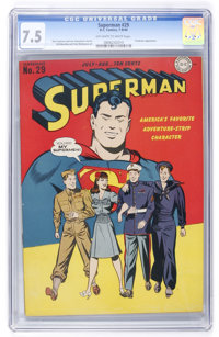 Superman #29 (DC, 1944) CGC VF- 7.5 Off-white to white pages