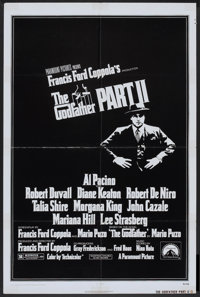 "The Godfather Part II (Paramount, 1974). One Sheet (27"" X 41""). Crime"