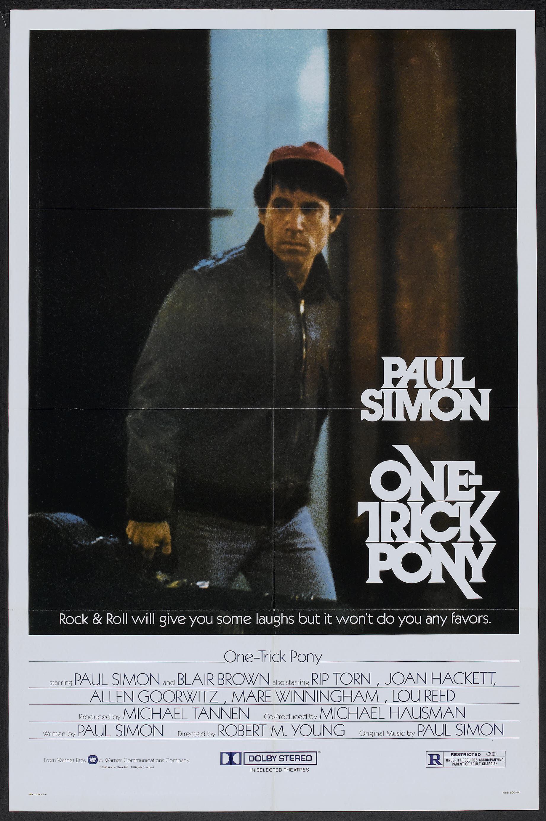 One Trick Pony (Warner Brothers, 1980)  One Sheet (27