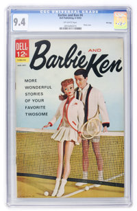 Barbie and Ken #4 File Copy (Dell, 1963) CGC NM 9.4 Off-white pages