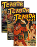 Pulps:Horror, Terror Tales Group (Popular, 1937-40) Condition: Average FN.... (Total: 4 Items)