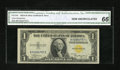 Small Size:World War II Emergency Notes, Fr. 2306 $1 1935A North Africa Silver Certificate. CGA Gem Uncirculated 66.. ...