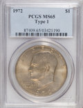 Eisenhower Dollars, 1972 $1 Type One MS65 PCGS. PCGS Population (226/5). Numismedia Wsl. Price for NGC/PCGS coin in MS65: $...