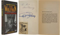 Movie/TV Memorabilia:Autographs and Signed Items, Lon Chaney Jr. and Ralph Bellamy Signed WolfmanPaperback....