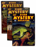 Pulps:Horror, Dime Mystery Magazine Group (Popular, 1934-35) Condition: VG/FN....(Total: 4 Items)