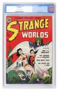 Golden Age (1938-1955):Science Fiction, Strange Worlds #1 (Avon, 1950) CGC VF 8.0 Off-white to whitepages....