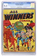 Golden Age (1938-1955):Superhero, All Winners Comics #1 (Timely, 1941) CGC VG+ 4.5 Cream to off-white pages....