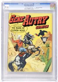 Gene Autry Comics #1 Mile High pedigree (Fawcett, 1942) CGC NM+ 9.6 Off-white to white pages