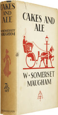 Books:Signed Editions, W. Somerset Maugham. Cakes and Ale. London: Heinemann,[1930].. First edition, first state. Signed by Maugham ...
