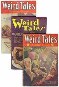 Pulps:Horror, Weird Tales Group (Popular Fiction, 1932-34) Condition: AverageFN/VF.... (Total: 3 Items)