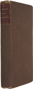 Books:First Editions, [George Washington]. A Collection of Speeches of the Presidentof the United States to Both Houses of Congress, At the o...