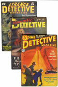 Pulps:Detective, Miscellaneous Detective Pulps Group (Various Publishers, 1932-40)Condition: Average FN.... (Total: 3 Items)