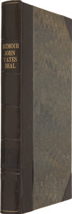 Books:First Editions, John Yates Beall. Memoir of John Yates Beall: His Life; Trial;Correspondence; Diary; and Private Manuscript Found Among...