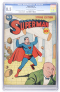 Golden Age (1938-1955):Superhero, Superman #4 (DC, 1940) CGC VF+ 8.5 Cream to off-white pages....