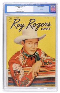 Roy Rogers Comics #1 (Dell, 1948) CGC NM- 9.2 Off-white to white pages