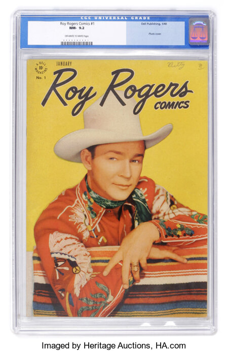 Roy Rogers Comics #1 (Dell, 1948) CGC NM- 9.2 Off-white to white pages....