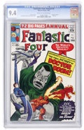 Silver Age (1956-1969):Superhero, Fantastic Four Annual #2 (Marvel, 1964) CGC NM 9.4 Cream to off-white pages....