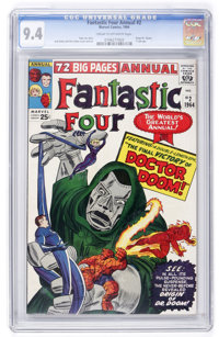 Fantastic Four Annual #2 (Marvel, 1964) CGC NM 9.4 Cream to off-white pages