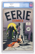 Golden Age (1938-1955):Horror, Eerie #1 (Avon, 1947) CGC FN/VF 7.0 Cream pages....