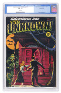 Golden Age (1938-1955):Horror, Adventures Into The Unknown #1 Diamond Run pedigree (ACG, 1948) CGCNM- 9.2 White pages....