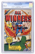 Golden Age (1938-1955):Superhero, All Winners Comics #21 (Timely, 1947) CGC VG+ 4.5 Cream to off-white pages....