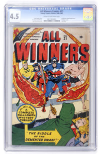 All Winners Comics #21 (Timely, 1947) CGC VG+ 4.5 Cream to off-white pages