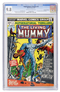 Supernatural Thrillers #5 The Living Mummy - Don Rosa Collection pedigree (Marvel, 1973) CGC NM/MT 9.8 Off-white to whit...
