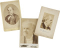 Photography:Cabinet Photos, P. T. Barnum, Three Cabinet Cards, including cards by: Charles L. Ritzmann of New York; Elmer... (Total: 3 Items)